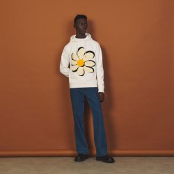 Hoodie with flower embroidered patch - Sandro - Modalova