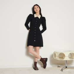 Balloon-sleeved dress - Sandro - Modalova