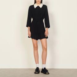 Playsuit with shirt collar - Sandro - Modalova
