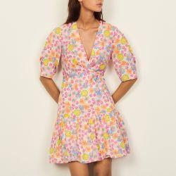 Smiley® Short dress with print - Sandro - Modalova