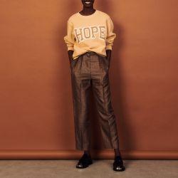 Organic cotton sweatshirt with lettering - Sandro - Modalova
