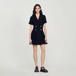 Short tweed coat dress - Sandro - Modalova