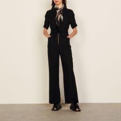 Organic cotton jumpsuit - Sandro - Modalova