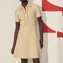 Short knitted dress - Sandro - Modalova