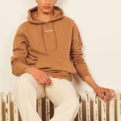Hoodie sweatshirt with logo embroidery - Sandro - Modalova