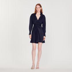 Long-sleeved short dress - Sandro - Modalova