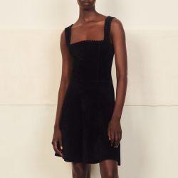 Chenille knit bustier dress - Sandro - Modalova