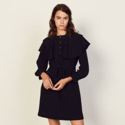 Dress with oversize ruffles - Sandro - Modalova
