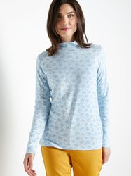 Tee-shirt col montant maille courtelle - Charmance - Modalova