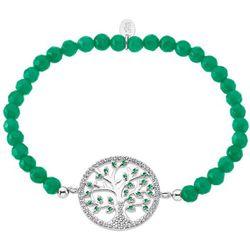 Bracelet Lotus Silver Tree Of Life - Bracelet Argent Perles Vertes Lotus Silver - LP1895-2-3 - Modalova