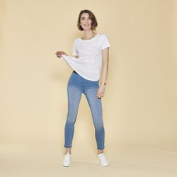 Jegging taille élastique et poches plaquées dos - Bleu - 3 SUISSES - Modalova