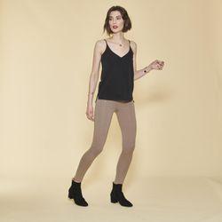 Promo : Tregging large taille élastique zips fantaisie et poches dos - pois marron - 3 SUISSES - Modalova