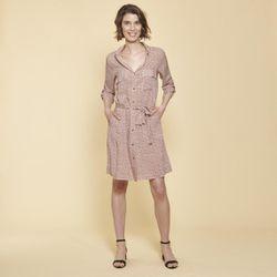 Promo : Robe chemise ceinturée imprimée - 3S. x Le Vestiaire - Modalova