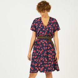 Promo : Robe fleurie mi-longue cache-c?ur Blues - 3S. x Le Vestiaire - Modalova