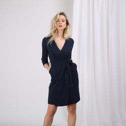 Promo : Robe croisée manches 3/4 Anya - 3S. x Le Vestiaire - Modalova
