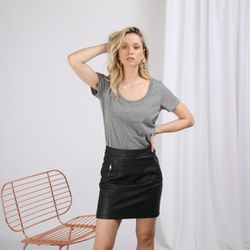 Promo : Tee-shirt en coton bio col rond Alfa - 3S. x Le Vestiaire - Modalova