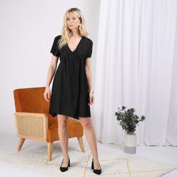 Promo : Robe manches courtes en linKaty - 3S. x Le Vestiaire - Modalova