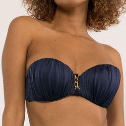 Promo : Haut de maillot de bain bandeau armatures bleu - Dorina Maillots - Modalova