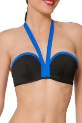 Haut de maillot de bain bandeau Funambule Noir-bleu - Dessus Dessous_Affiliate - Modalova