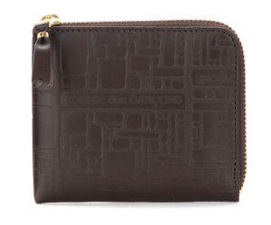 Porte-monnaie Wallet Comme Des Garçons en cuir imprimé marron - Comme des Garçons Wallet - Modalova