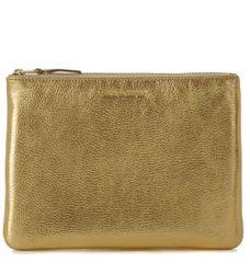 Pochette Wallet Comme des Garçons en cuir or - Comme des Garçons Wallet - Modalova