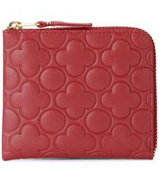 Portefeuille Comme des Garcons Wallet en cuir rouge imprimé - Comme des Garçons Wallet - Modalova