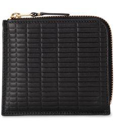 Portefeuille Brick Line en cuir noir - Comme des Garçons Wallet - Modalova
