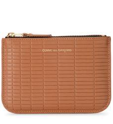 Pochette Brick Line en peau couleur cuir - Comme des Garçons Wallet - Modalova