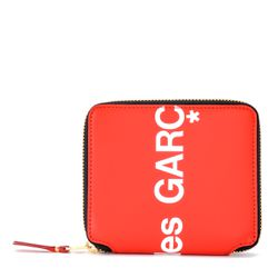 Portefeuille Huge Logo en cuir rouge - Comme des Garçons Wallet - Modalova