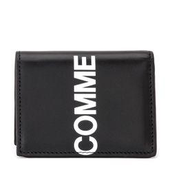 Portefeuilles Huge Logo en cuir noir - Comme des Garçons Wallet - Modalova