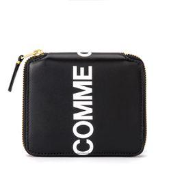 Portefeuille Huge Logo en cuir noir - Comme des Garçons Wallet - Modalova