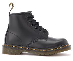 Boots 101 en cuir noir avec coutures jaunes - Dr. Martens - Modalova