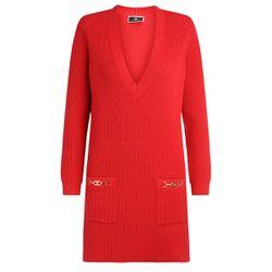 Mini abito rosso in maglia con scollo a V - ELISABETTA FRANCHI - Modalova