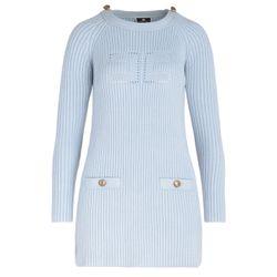 Mini abito in maglia azzurra - ELISABETTA FRANCHI - Modalova