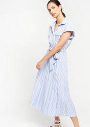 Robe chemise midi à rayures - LolaLiza - Modalova