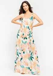 Robe longue avec imprimé floral coloré - LolaLiza - Modalova