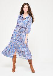 Robe chemise longue avec manches 3/4 - LolaLiza - Modalova