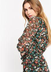 Robe maxi fleurie avec ceinture - LolaLiza - Modalova