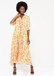 Robe longue à imprimé retro - LolaLiza - Modalova