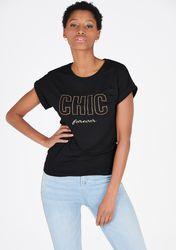T-shirt avec texte et strass - LolaLiza - Modalova