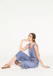 Combinaison à rayures avec ceinture - LolaLiza - Modalova