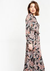 Robe chemise à fleurs avec ceinture - LolaLiza - Modalova