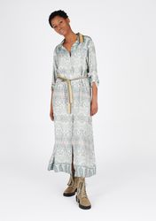 Robe chemise maxi à imprimé fin - LolaLiza - Modalova