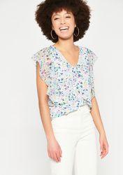 T-shirt à manches papillon courtes - LolaLiza - Modalova